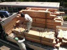 花丘建設ブログ-材木搬入