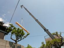 花丘建設ブログ-空飛ぶ木材