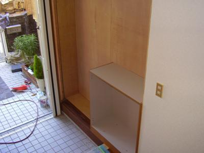 花丘建設ブログ-工事中玄関