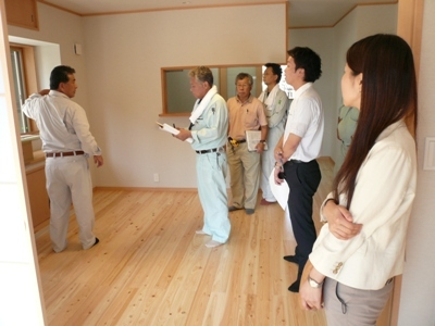 花丘建設ブログ-社内検査1