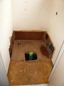 花丘建設ブログ-トイレ改装前2