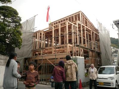 花丘建設ブログ-棟上げ5
